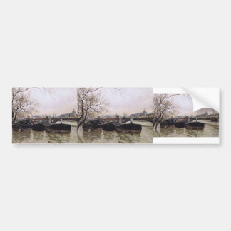 Frits Thaulow- Flooding by the Seine Bumper Sticker