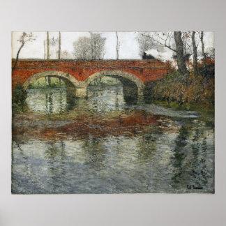 Frits Thaulow French River Landscape Stone Bridge Poster