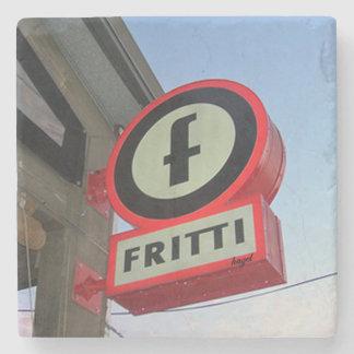 Fritti, Inman Park Atlanta Marble Stone Coaster. Stone Coaster
