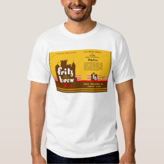 FRITZ BREW CONE TOP BEER CAN DESIGN FREEPORT ILL T SHIRT