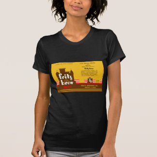 FRITZ BREW CONE TOP BEER CAN DESIGN FREEPORT ILL T SHIRTS