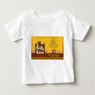 FRITZ BREW CONE TOP BEER CAN DESIGN FREEPORT ILL TSHIRTS
