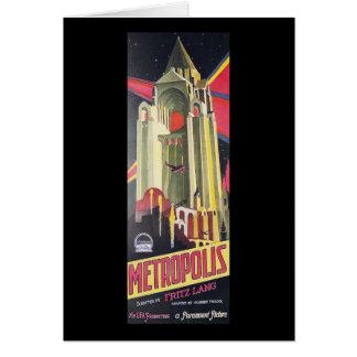 Fritz Lang Metropolis Greeting Card