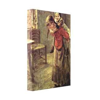 Fritz von Uhde - The big sister Canvas Prints
