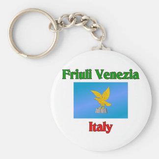 Friuli Venezia Basic Round Button Key Ring
