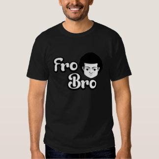 Fro Bro Dark - Black & White Tee Shirt