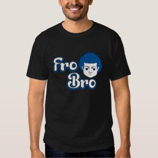Fro Bro Dark - Blue & White Tees