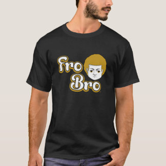Fro Bro Dark - Golden & White T-Shirt