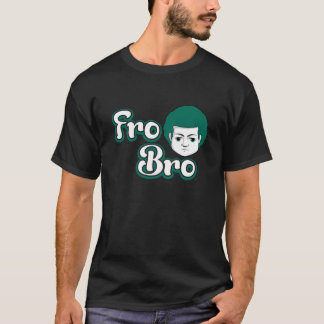 Fro Bro Dark - Green & White T-Shirt