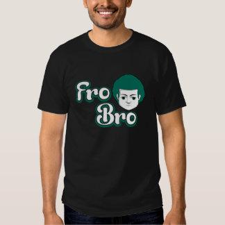Fro Bro Dark - Green & White T-shirts