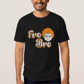Fro Bro Dark - Orange & White T Shirts