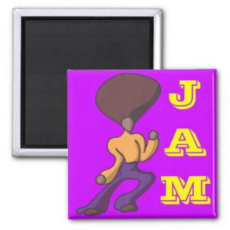 Fro Dude Jam Square Magnet