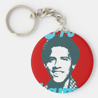 Frobama (blue) basic round button key ring