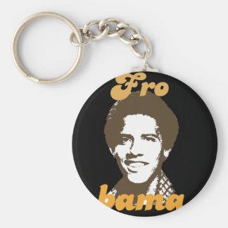 Frobama (brown) basic round button key ring