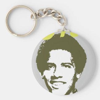Frobama (green) basic round button key ring