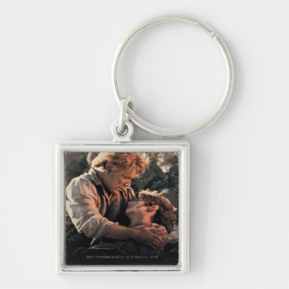FRODO™ in Samwise's Arms Silver-Colored Square Key Ring