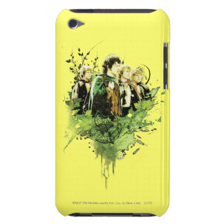 FRODO™ with Hobbits Vector Collage Barely There iPod Case