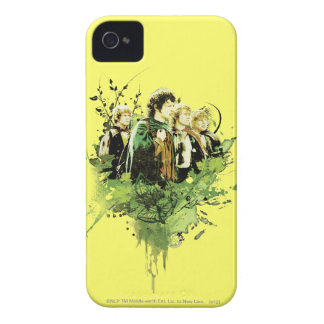 FRODO™ with Hobbits Vector Collage iPhone 4 Cases