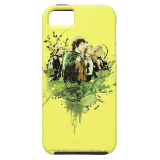 FRODO™ with Hobbits Vector Collage iPhone 5 Covers