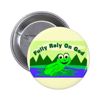 FROG-1 PINBACK BUTTON