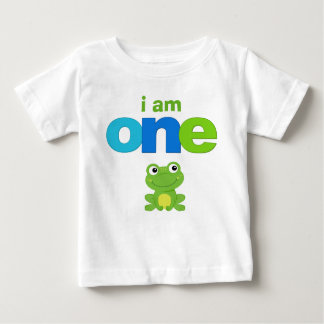 Frog 1st Birthday Tshirt Toddler Baby Kid