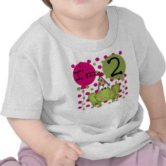 Frog 2nd Birthday Pink Shirts