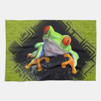 Frog 3 Bordered  Kitchen Towels