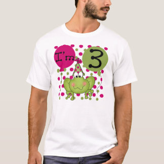 Frog 3rd Birthday (pink) T-Shirt
