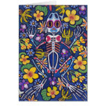 Frog among flowers greeting card