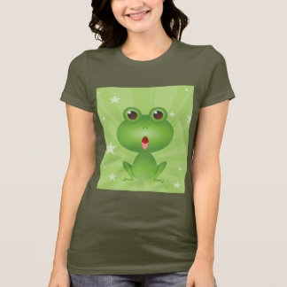 Frog Amphibian Green Frogs Cute Cartoon Animal T-Shirt