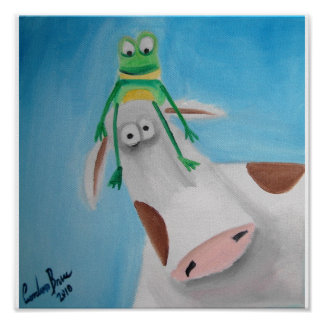FROG AND COW POSTER