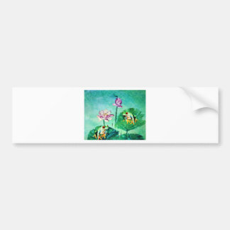 FROG AND DRAGONFLY BUMPER STICKER