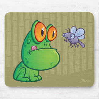 Frog and Dragonfly Mouse Mat