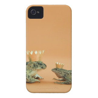 Frog and lizard wearing crowns iPhone 4 cover