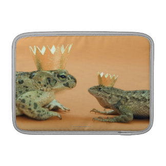 Frog and lizard wearing crowns sleeve for MacBook air