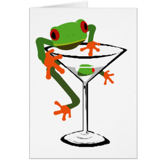 Frog and Martini Card