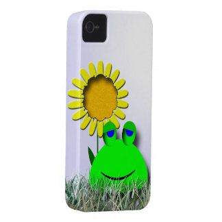 Frog and sunflower iPhone 4 Case-Mate case