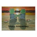 Frog Anniversary Card Hoppy Happy Anniversary