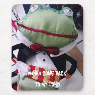 """FROG ASKING """"WANNA COME BACK TO MY POND MOUSE PAD"""