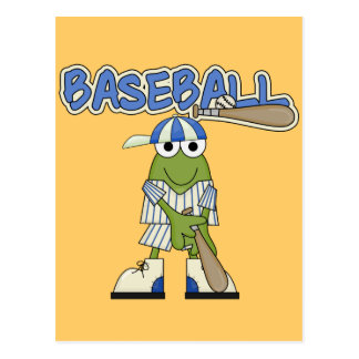 Frog Baseball Batter Up Tshirts and Gifts Post Card