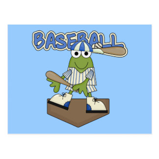 Frog Baseball Home Plate Tshirts and Gifts Post Cards