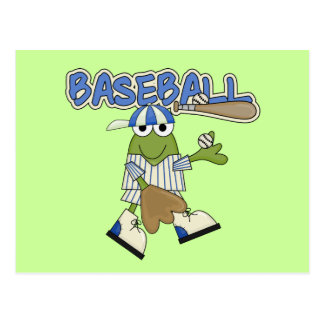 Frog Baseball Pitcher T-shirts and Gifts Postcards