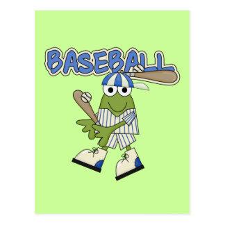 Frog Baseball Up at Bat Tshirts and Gifts Postcards