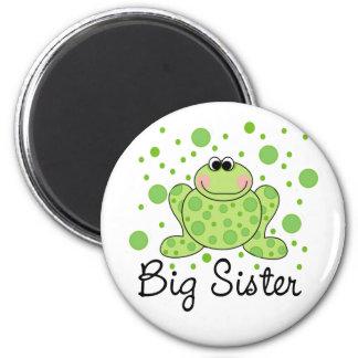 Frog Big Sister 6 Cm Round Magnet