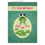 Frog Birthday, Jump for Joy Card