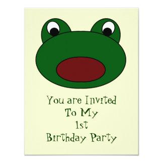 Frog Birthday Party Invitation