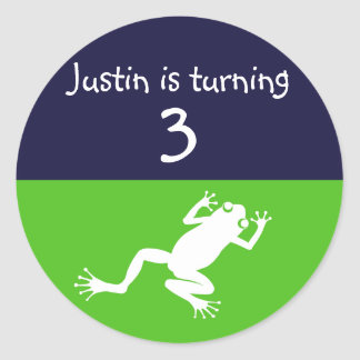 Frog Birthday Sticker