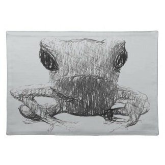 Frog Black and White Sketch Placemat