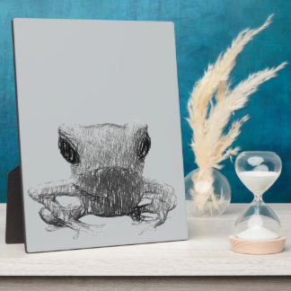 Frog Black and White Sketch Plaque