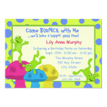 Frog Bounce Birthday 13 Cm X 18 Cm Invitation Card